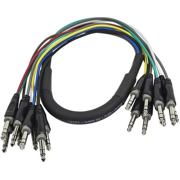 Monoprice 1 Meter (3ft) 8-Channel 1/4inch TRS Male to 1/4inch TRS Male Snake Cable - 601191