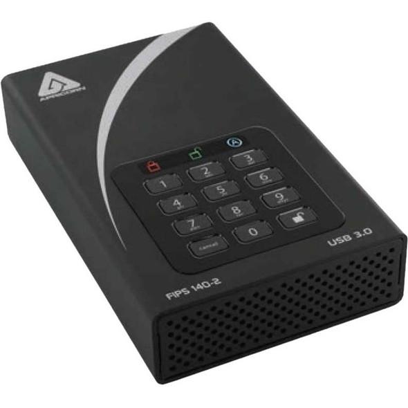 "Apricorn Aegis Padlock DT FIPS ADT-3PL256F-2000 2 TB Desktop Hard Drive - 3.5"" External - Black - ADT-3PL256F-2000"