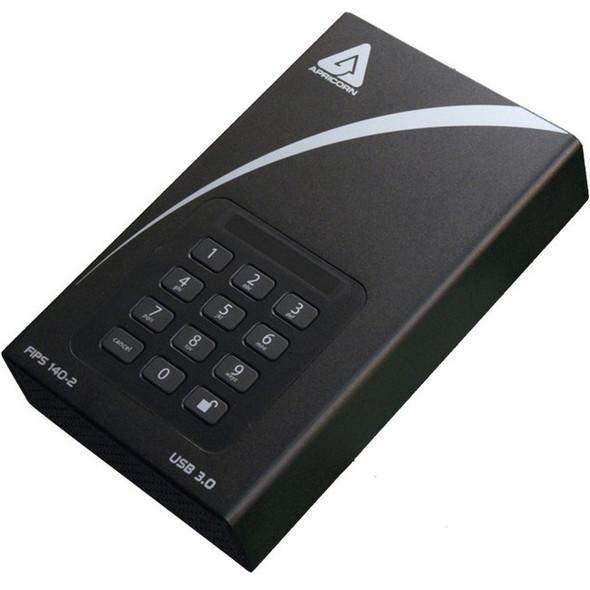 "Apricorn Aegis Padlock DT FIPS ADT-3PL256F-4000 4 TB Desktop Hard Drive - 3.5"" External - Black - ADT-3PL256F-4000"