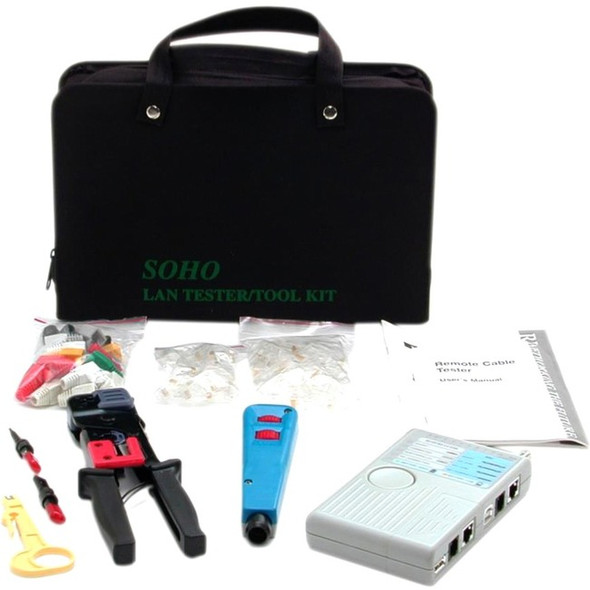 StarTech Professional RJ45 Network Installer Tool Kit with Carrying Case - Network Installation Kit - Network tool tester kit - CTK400LAN