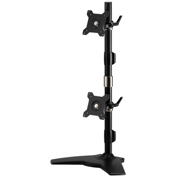 "Amer Mounts Stand Based Vertical Dual Monitor Mount for two 15""-24"" LCD/LED Flat Panels - AMR2SV"