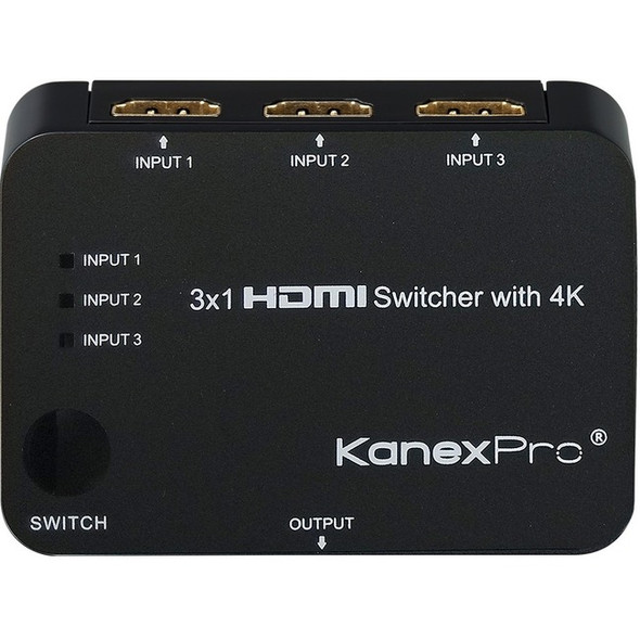 KanexPro 3x1 HDMI Switcher with 4K Support - SW-HD3X14K