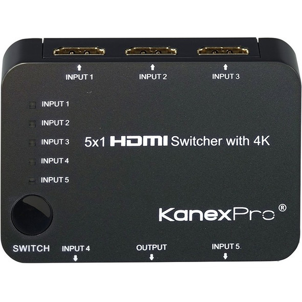 KanexPro 5x1 HDMI Switcher with 4K Support - SW-HD5X14K