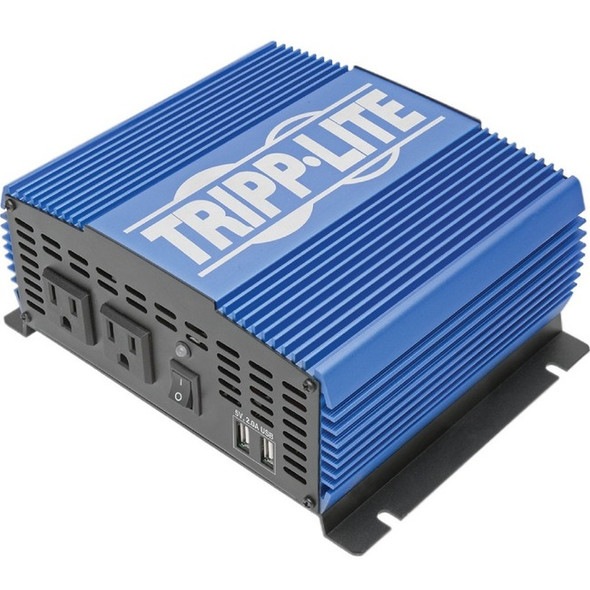 Tripp Lite 1500W Compact Power Inverter Mobile Portable 2 Outlet 2 USB Port - PINV1500