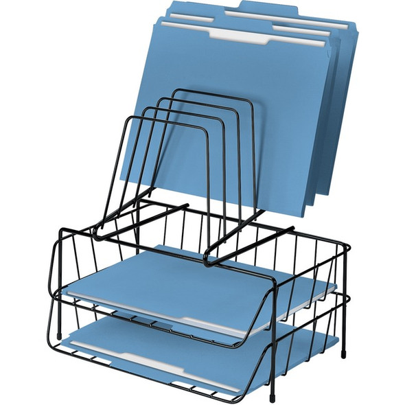 Fellowes Wire Double Tray with Step File - 72391