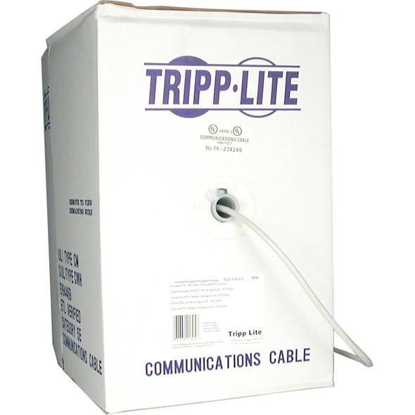 Tripp Lite 1000ft Cat5 / Cat5e 350MHz Bulk Stranded-Core PVC Cable Gray 1000' - N020-01K-GY
