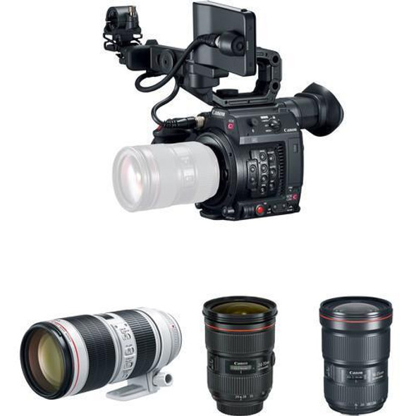 Canon EOS C200 Triple Lens Digital Cinema Production Camera Kit