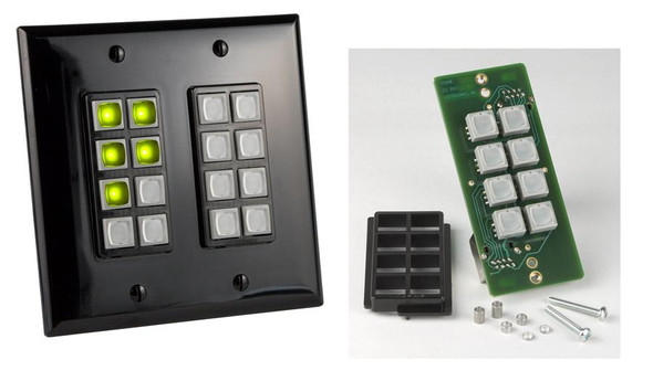 Lectrosonics Programmable pushbutton remote control for DM Series processors; 8 buttons with LED indicators