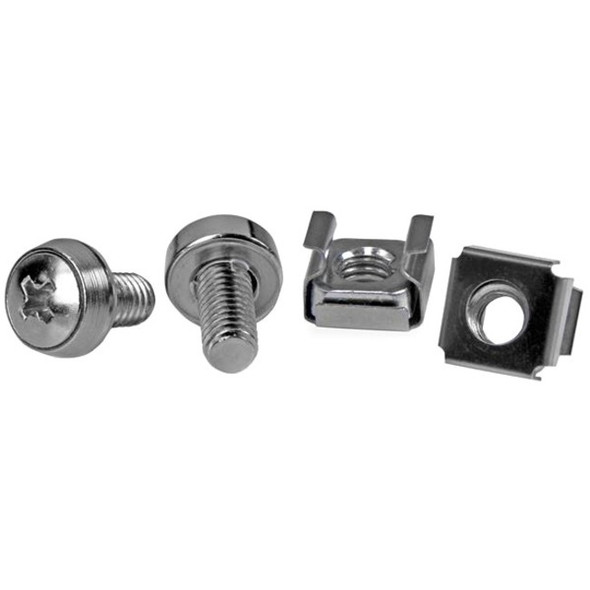 StarTech 50 Pkg M6 Mounting Screws and Cage Nuts - CABSCREWM6