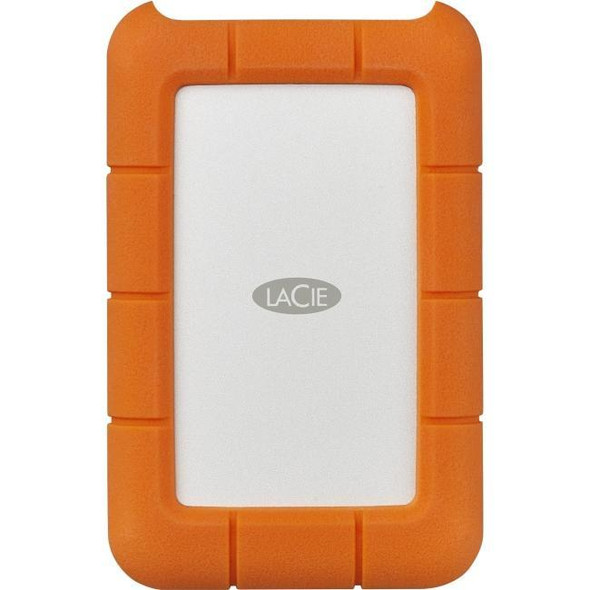 LaCie Rugged Mini 5TB USB 3.1 Type C Orange w/ Data Recovery Services