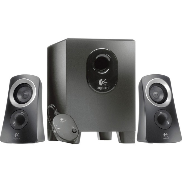 Logitech Z313 2.1 Speaker System - 25 W RMS - Black - 980-000382