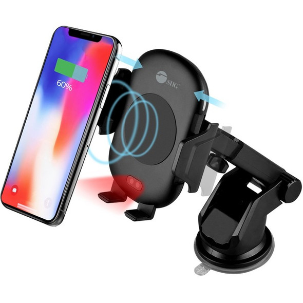 SIIG Auto-Clamping Wireless Car Charger Mount/Stand - AC-PW1M11-S1