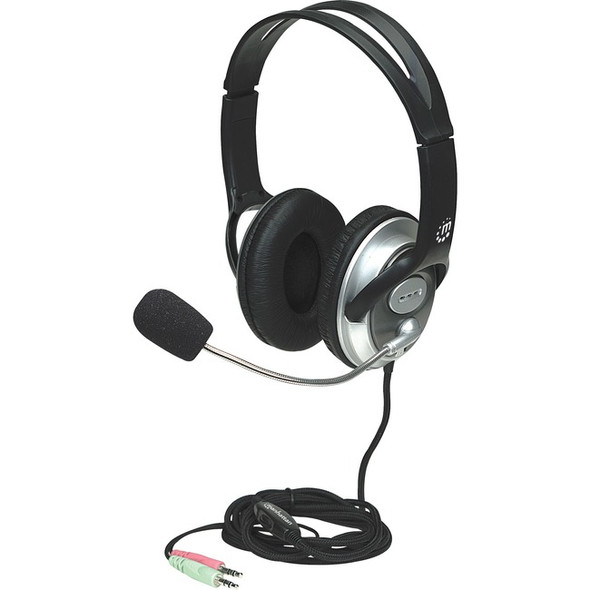 Manhattan Classic Stereo Headset with Flexible Microphone Boom - 175555
