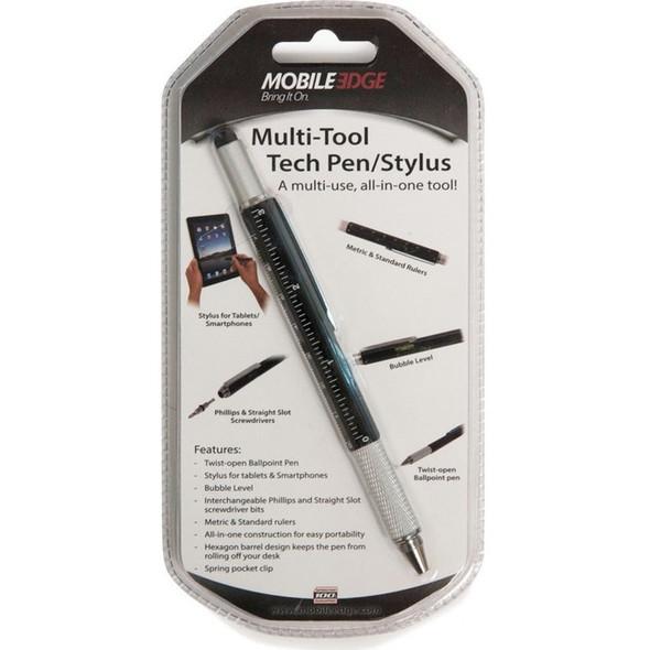 Mobile Edge Multi-Tool Tech Pen/Stylus (Black) - MEASPM1