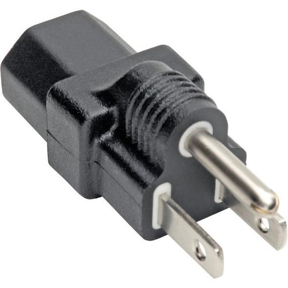 Tripp Lite NEMA 5-15P to C13 Power Cord Adapter Converter 10A 125V Black - P006-000