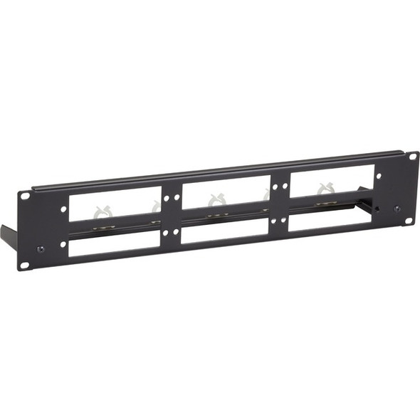 Black Box Fiber Optic Panel - Blank, Universal, 2U, 3-Slot - JPMTU-FIBER-6