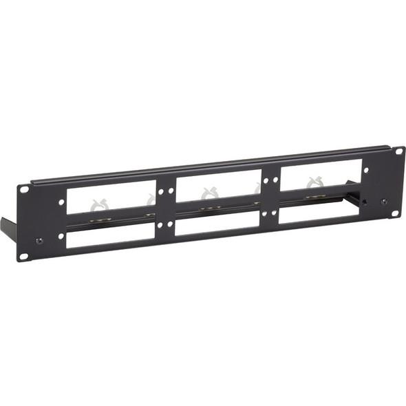 Black Box Fiber Optic Panel - Blank, Universal, 2U, 3-Slot - JPMTU-FIBER-6