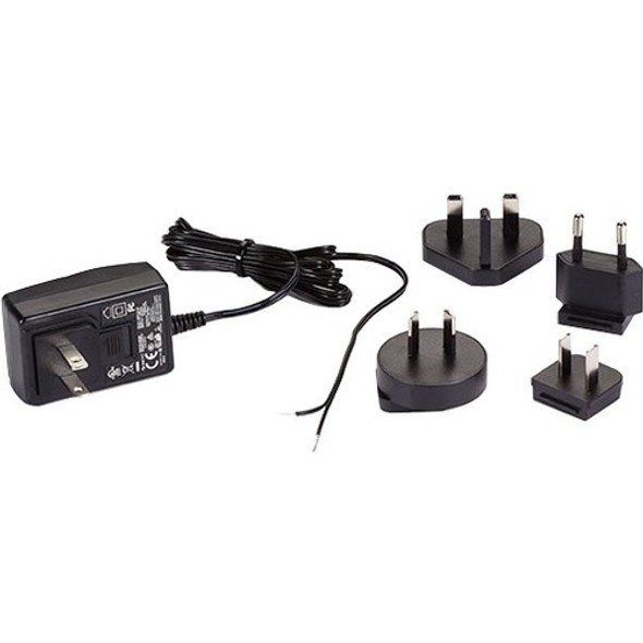 Black Box 120-VAC/12-VDC Wallmount Power Supply with Bare Leads - PS1003-R2