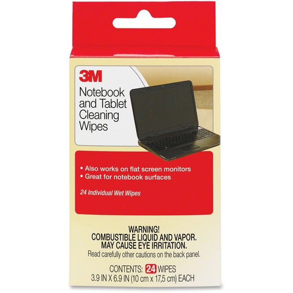 3M Notebook Screen Cleaning Wipes - CL630