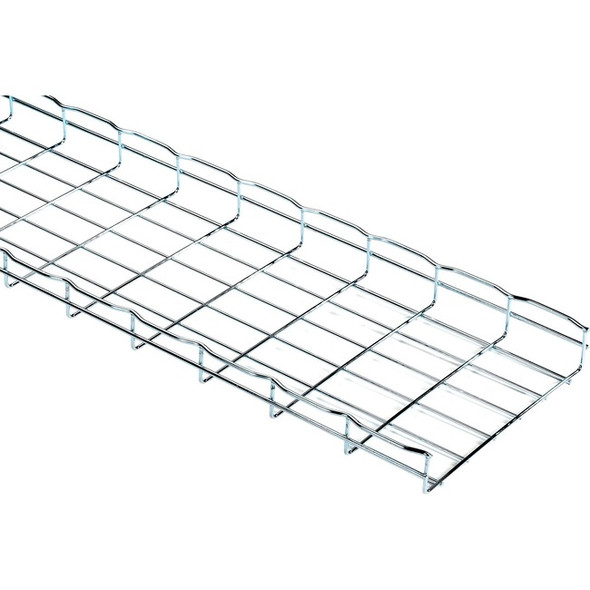 "Black Box Basket Tray Section - 2""H x 10'L x 12""W, Steel, 3-Pack - RM784-3PK"