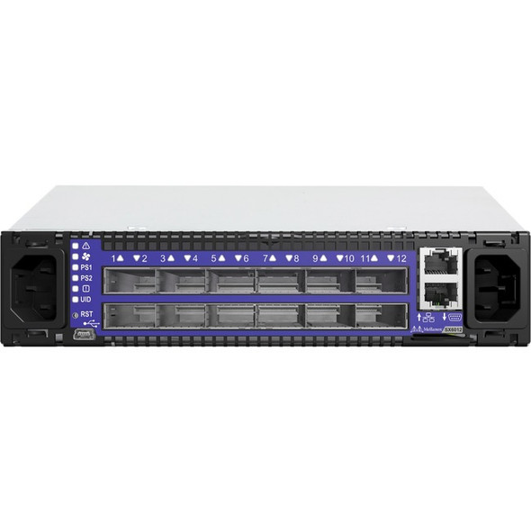 Mellanox 12-port Non-blocking Managed 56Gb/s InfiniBand/VPI SDN Switch System - MSX6012F-2BFS