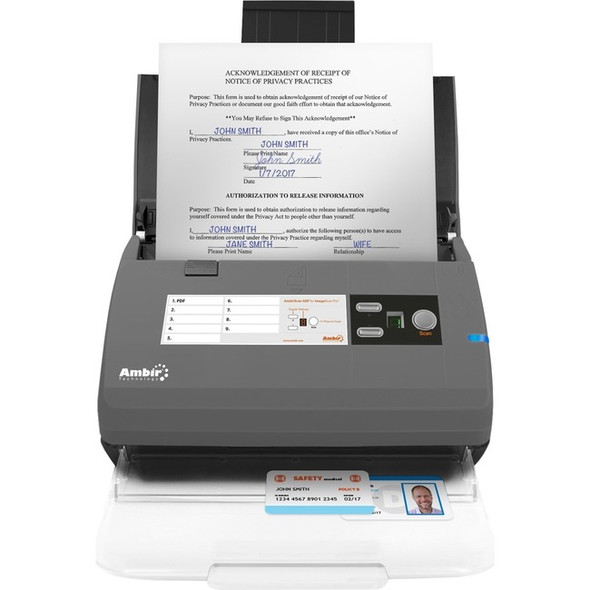 Ambir ImageScan Pro 830ix Sheetfed Scanner - 600 dpi Optical - DS830ix-AS