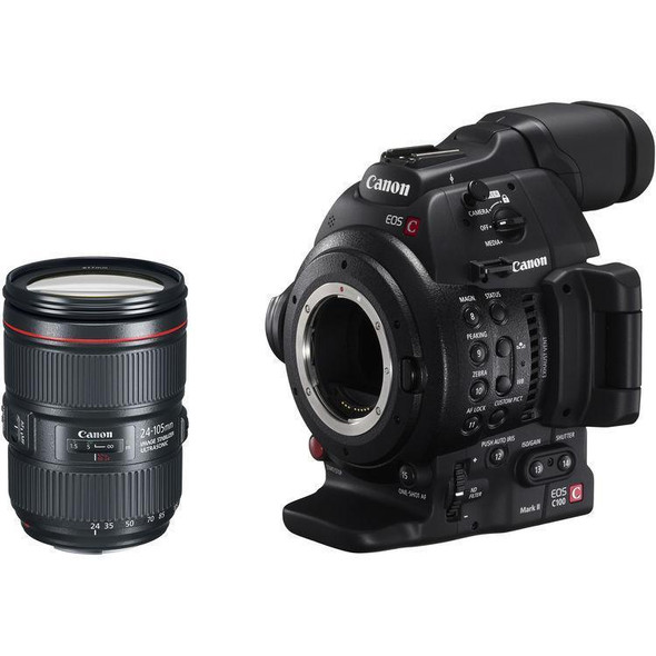 Canon EOS C100 Mark II with Dual Pixel CMOS AF & EF 24-105mm f/4L IS II USM Lens Kit
