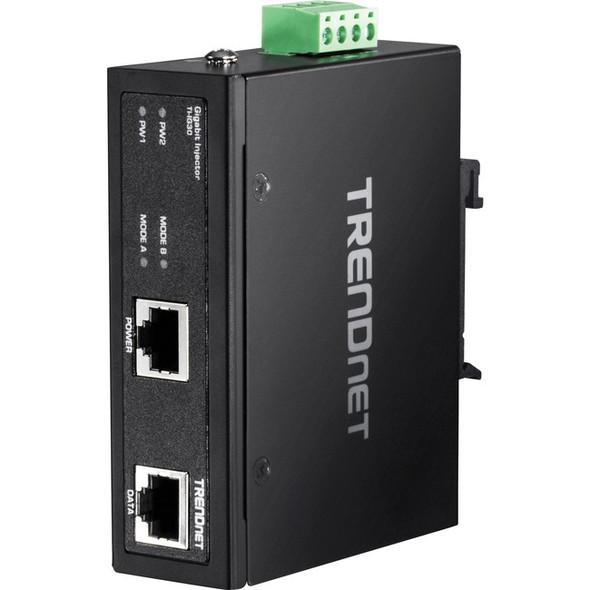 TRENDnet Hardened Industrial Gigabit PoE+ Injector - TI-IG30