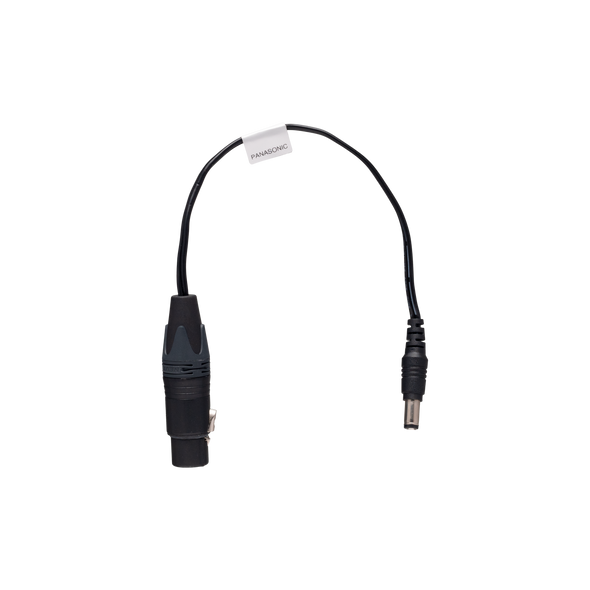 Teradek 4-pin XLR Male to barrel connector - Panasonic / 8 Inch