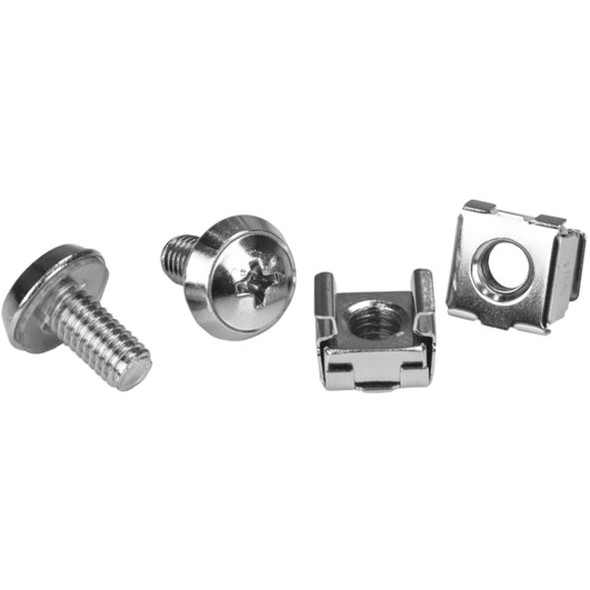 StarTech Rack Screws - 20 Pack - Installation Tool - 12 mm M6 Screws - M6 Nuts - Cabinet Mounting Screws and Cage Nuts - CABSCRWM620