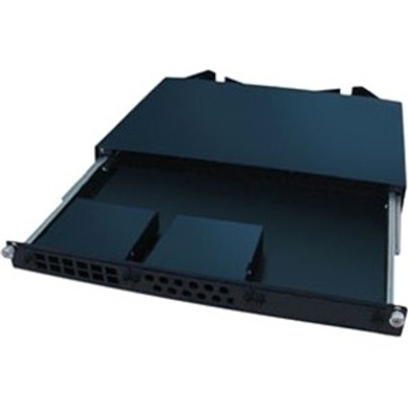 AddOn 19-inch Slide-Out Patch Panel 1U Chassis with 3 Open Cassette Bays - ADD-PPS-3BAY