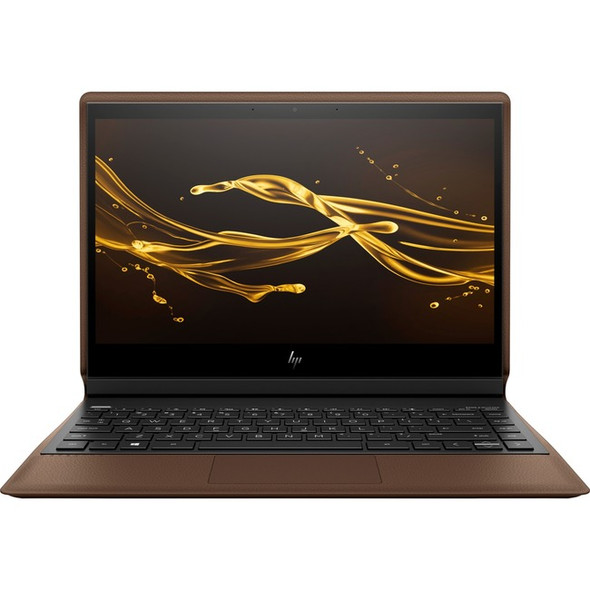 "HP Spectre Folio 13-ak0000 13-ak0015nr 13.3"" Touchscreen 2 in 1 Notebook - 1920 x 1080 - Core i7 i7-8500Y - 8 GB RAM - 256 GB SSD - Cognac Brown, Dark Ash Silver - Refurbished - 5GQ93UAR#ABA"