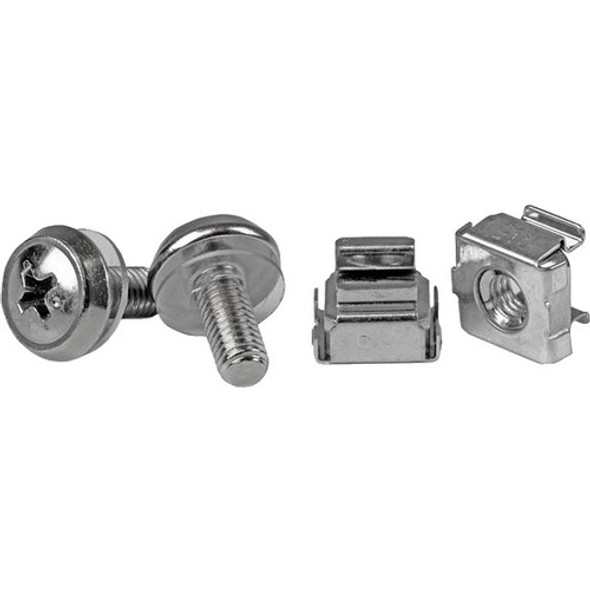 StarTech 50 Pkg M5 Mounting Screws and Cage Nuts for Server Rack Cabinet - CABSCREWM5