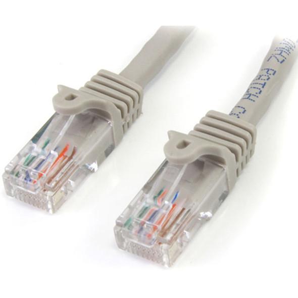 StarTech - Patch cable - RJ-45 (M) - RJ-45 (M) - 7.6 m - UTP - ( CAT 5e ) - gray - 45PATCH25GR