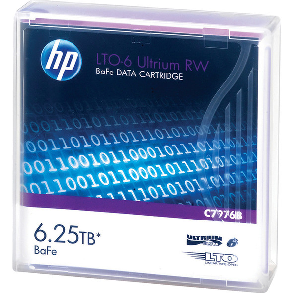 HPE LTO-6 Ultrium 6.25 TB BaFe RW Data Cartridge - C7976B
