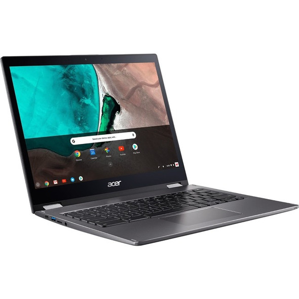 "Acer Chromebook Spin 13 CP713-1WN-51EA 13.5"" Touchscreen 2 in 1 Chromebook - 2256 x 1504 - Core i5 i5-8350U - 8 GB RAM - 64 GB Flash Memory - Steel Gray - NX.EFJAA.02A"