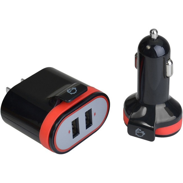 Siig. Usb Wall & Car Charger - Black - AC-PW1A12-S1