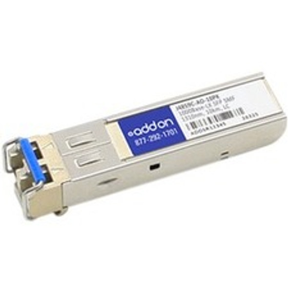 AddOn 10-Pack of HP J4859C Compatible TAA Compliant 1000Base-LX SFP Transceiver (SMF, 1310nm, 10km, LC) - J4859C-AO-10PK