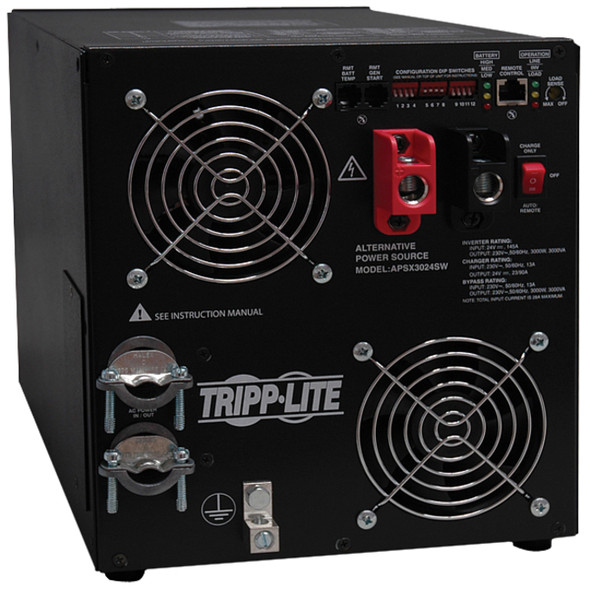 Tripp Lite 3000W APS 24VDC 230V Inverter / Charger w/ Pure Sine-Wave Output Hardwired - APSX3024SW