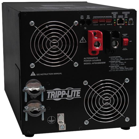 Tripp Lite 3000W APS 24VDC 230V Inverter / Charger w/ Pure Sine-Wave Output Hardwired - APSX3024SW
