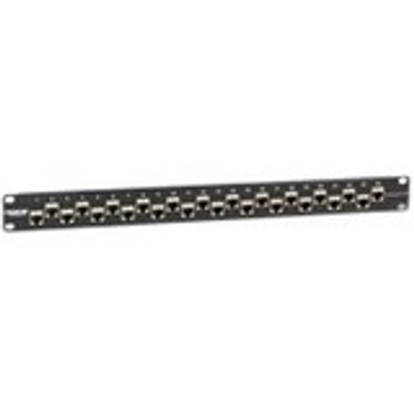 Black Box CAT6A Shielded Feed-Through Patch Panel, 24-Port, 1U - C6AFP70S-24