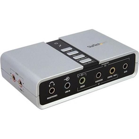 StarTech 7.1 USB Audio Adapter External Sound Card - ICUSBAUDIO7D