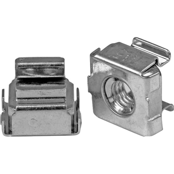 StarTech M5 Cage Nuts - 100 Pack - M5 Mounting Cage Nuts for Server Rack & Cabinet - CABCAGENUTS2