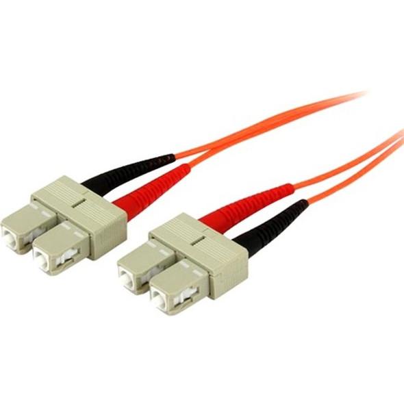 1m Fiber Optic Cable - Multimode Duplex 50/125 - OFNP Plenum - SC/SC - OM2 - SC to SC Fiber Patch Cable - 50FIBPSCSC1