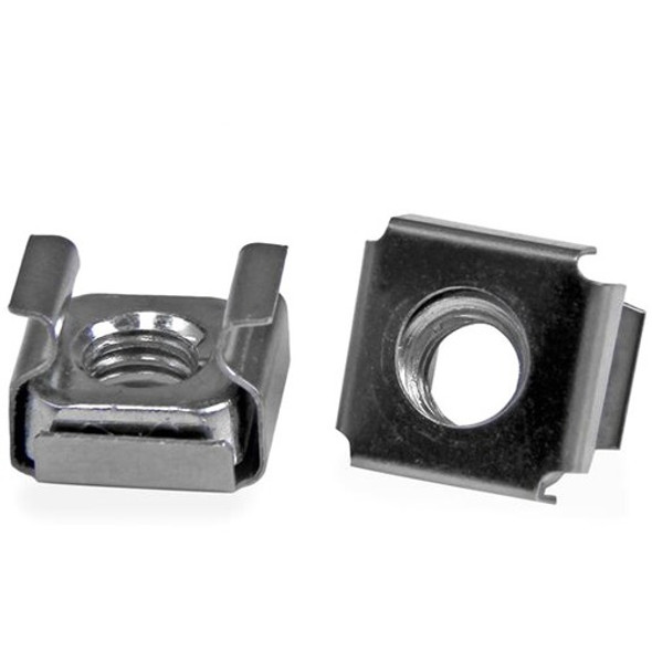 StarTech M6 Cage Nuts - 100 Pack - M6 Mounting Cage Nuts for Server Rack & Cabinet - CABCAGENTS62