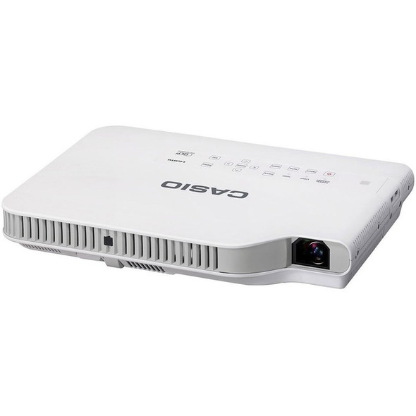 Casio Slim XJ-A142 DLP Projector - 4:3 - White, Light Gray - XJ-A142