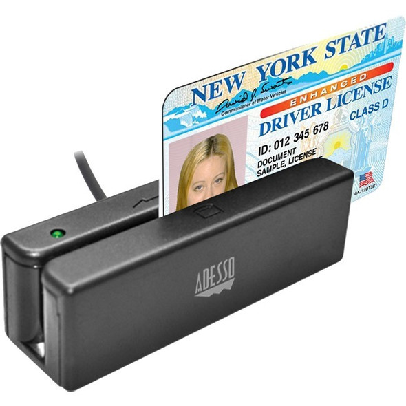 Adesso MSR-100 Magnetic Stripe Card Reader - MSR-100