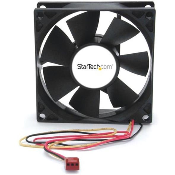 StarTech 80x25mm Dual Ball Bearing Computer Case Fan w/ TX3 Connector - FANBOX2