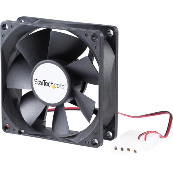 StarTech 80x25mm Dual Ball Bearing Computer Case Fan w/ LP4 Connector - System fan kit - 80 mm - FANBOX