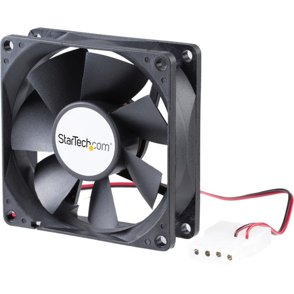 StarTech 80x25mm Dual Ball Bearing Computer Case Fan w/ LP4 Connector - System fan kit - 80 mm - FANBOX